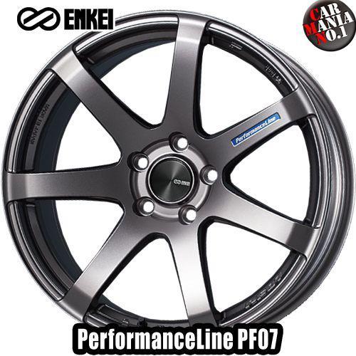 【2本セット】 ENKEI(エンケイ) パフォーマンスライン PF07 19×8.0J +45 5/112 カラー:DS 19インチ 5穴 P.C.D112 ホイール新品2本 PerformanceLine PF07