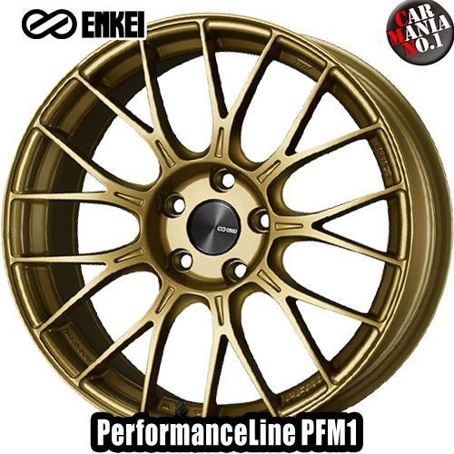 【2本セット】 ENKEI(エンケイ) パフォーマンスライン PFM1 17×8.0J +48 5/100 カラー:GO 17インチ 5穴 P.C.D100 ホイール新品2本 PerformanceLine PFM1