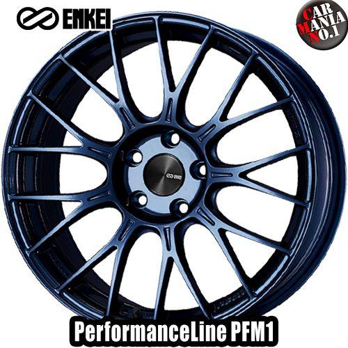 17×7.0J +48 4/100 ENKEI(エンケイ) パフォーマンスライン PFM1 カラー:Misty Blue 17インチ 4穴 P.C.D100 ホイール新品1本 PerformanceLine