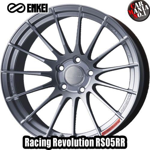 18×8.5J +50 5/100 ENKEI(エンケイ) レーシングレボリューション RS05RR カラー:SS 18インチ 5穴 P.C.D100 ホイール新品1本 Racingr Rvolution
