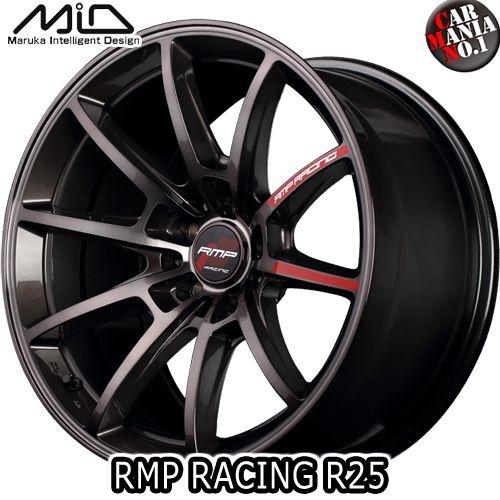 16×5.5J +20 5/139.7 MARUKA(マルカ) MID RMP RACING R25 カラー:ガンメタポリッシュ/ブラッククリア 16インチ 5穴 P.C.D139.7 ホイール新品1本 鋳造1ピースホイール RMPレーシング