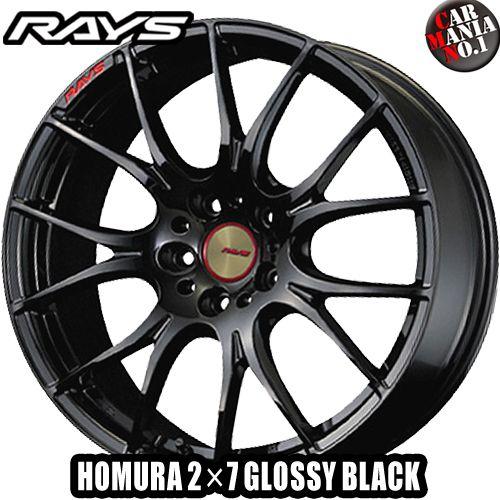 19×9.5J +38 5/114.3 RAYS(レイズ) ホムラ 2×7 GLOSSY BLACK(ツーバイセブン グロッシーブラック) カラー:GR 19インチ 5穴 P.C.D114.3 FACE-2ホイール新品1本 HOMURA 2X7