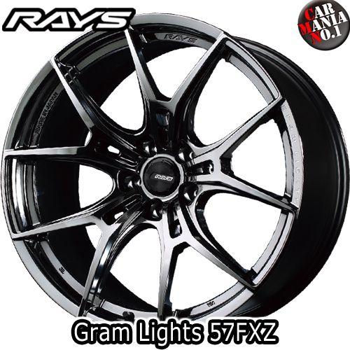 RAYS(レイズ) グラムライツ 57FXZ 18×8.0J +45 5/114.3 カラー:SNJ 18インチ 5穴 P.C.D114.3 FACE-1 ホイール新品1本 gram LIGHTS