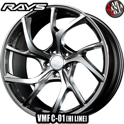 RAYS(レイズ) VMF C-01 20×10.0J +34 5/120 カラー:DX (HI LINE) 20インチ 5穴 P.C.D120 ボア径:φ72.6 FACE-3 ホイール新品1本 VERSUS MODE FORGED 鍛造1ピース