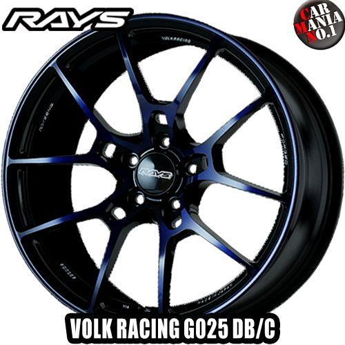 RAYS(レイズ) ボルクレーシング G025 DB/C 19×8.0J +44 5/114.3 カラー:LD 19インチ 5穴 P.C.D114.3 FACE-1 ホイール新品1本 VOLK RACING 鍛造ホイール