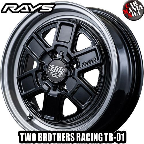 15×5.0J +45 4/100 RAYS(レイズ) トゥーブラザースレーシング TB-01 カラー:B9Z 15インチ 4穴 P.C.D100 ホイール新品1本 TWO BROTHERS RACING TBR