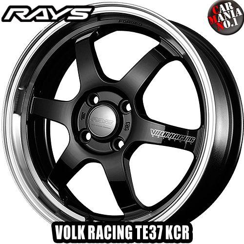 (4本セット) 15×5.5J +45 4/100 RAYS(レイズ) ボルクレーシング TE37 KCR カラー:KF 15インチ 4穴 P.C.D100 ホイール新品4本 VOLK RACING 鍛造1ピース