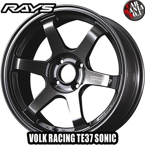 16×6.5J +48 4/100 RAYS(レイズ) ボルクレーシング TE37ソニック カラー:MM 16インチ 4穴 P.C.D100 ホイール新品1本 VOLK RACING TE37 SONIC 鍛造1ピース