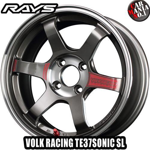 16×7.0J +47 4/100 RAYS(レイズ) ボルクレーシング TE37ソニック SL カラー:PG 16インチ 4穴 P.C.D100 FACE-2 ホイール新品1本 VOLK RACING TE37 SONIC SL 鍛造1ピース