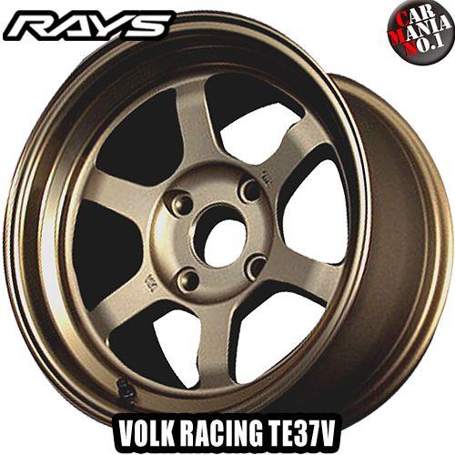 16×7.5J +6 4/114.3 RAYS(レイズ) ボルクレーシング TE37V. カラー:BR 16インチ 4穴 P.C.D114.3 RIM TYPE:M ホイール新品1本 VOLK RACING TE37V 鍛造1ピース