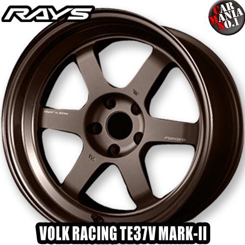 (4本セット) 18×10.0J +0 5/114.3 RAYS(レイズ) ボルクレーシング TE37V MARK-II カラー:BR 18インチ 5穴 P.C.D114.3 RIM TYPE:S ホイール新品4本 VOLK RACING TE37V MARK2 鍛造1ピース