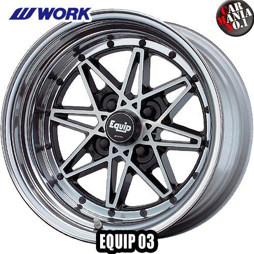(4本セット) 15×5.5J +35 4/100 EQUIP 03(エクイップ ゼロスリー) カラー:BP 15インチ 4穴 P.C.D100 K-CAR専用 ホイール新品4本 3ピースホイール 軽自動車