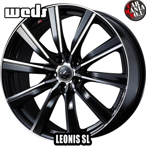 【在庫限り!】【4本セット】 Weds(ウェッズ) レオニスSL 17×6.5J +53 5/114.3 カラー:PBMC 17インチ 5穴 P.C.D114.3 ホイール新品4本 LEONIS SL