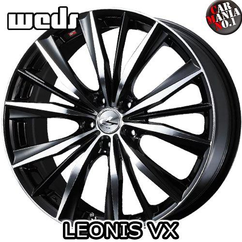 15×4.5J +45 4/100 Weds(ウェッズ) レオニスVX カラー:BKMC 15インチ 4穴 P.C.D100 ホイール新品1本 LEONIS VX
