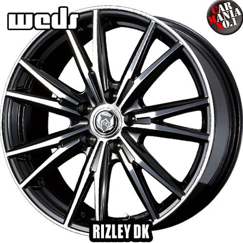 (4本セット) 16×6.5J +38 5/114.3 Weds(ウェッズ) ライツレーDK カラー:ブラックメタリック/ポリッシュ 16インチ 5穴 P.C.D114.3 ホイール新品4本 RIZLEY DK