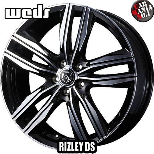 【4本セット】 Weds(ウェッズ) ライツレーDS 18×8.0J +45 5/114.3 カラー:ブラックメタリック/ポリッシュ 18インチ 5穴 P.C.D114.3 ホイール新品4本 RIZLEY