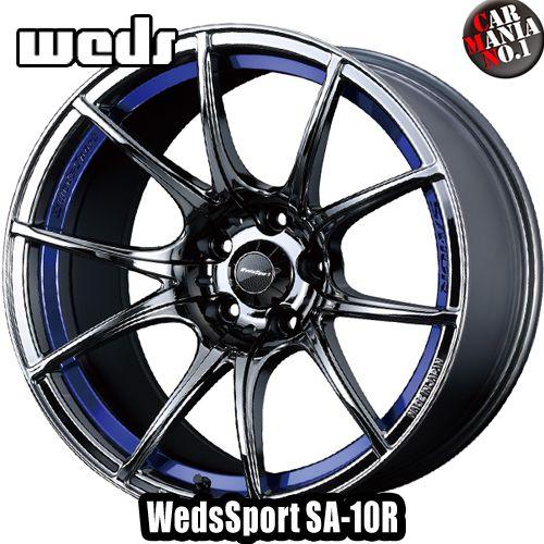 【4本セット】 Weds(ウェッズ) ウェッズスポーツ SA-10R 18×7.5J +35 5/114.3 カラー:BLC 18インチ 5穴 P.C.D114.3 FACE:F ホイール新品4本 WedsSport