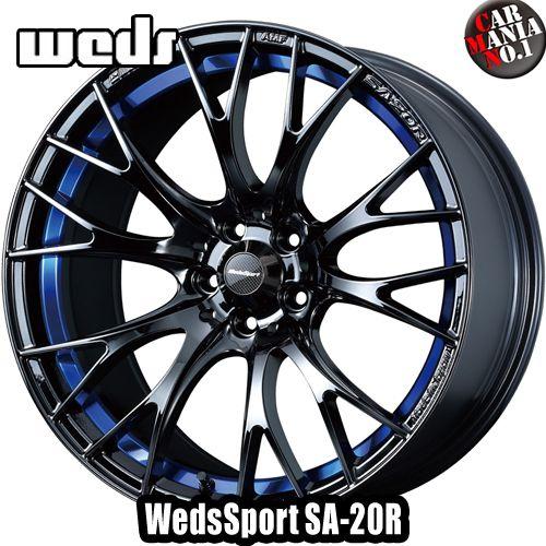 【4本セット】Weds(ウェッズ) ウェッズスポーツ SA-20R 18×8.5J +35 5/114.3 カラー:BLC2 18インチ 5穴 P.C.D114.3 ホイール新品4本 WedsSport