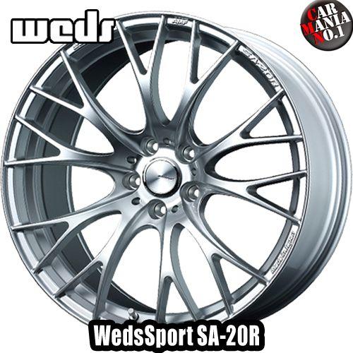 【4本セット】 Weds(ウェッズ) ウェッズスポーツ SA-20R 19×8.5J +38 5/114.3 カラー:VI-SILVER 19インチ 5穴 P.C.D114.3 FACE :F ホイール新品4本 WedsSport