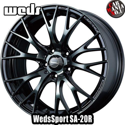 (4本セット) 16×7.0J +48 5/100 Weds Sport(ウェッズスポーツ) SA-20R カラー:WBC(ウォースブラッククリア) 16インチ 5穴 PCD100 ホイール新品4本