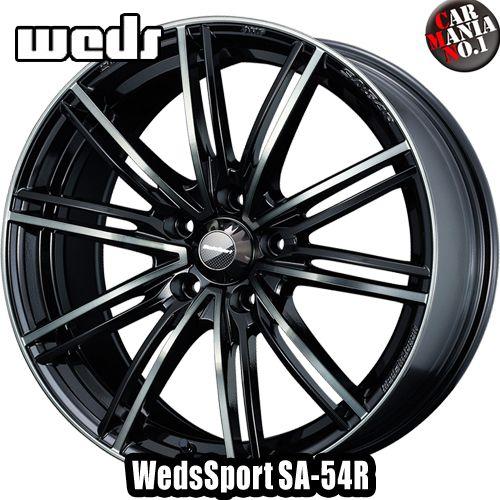 【4本セット】 Weds(ウェッズ) ウェッズスポーツ SA-54R 18×7.5J +45 5/114.3 カラー:WBC 18インチ 5穴 P.C.D114.3 FACE :F ホイール新品4本 WedsSport