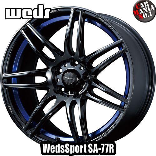 【4本セット】 Weds(ウェッズ) ウェッズスポーツ SA-77R 17×7.5J +45 5/114.3 カラー:BLC2 17インチ 5穴 P.C.D114.3 ホイール新品4本 WedsSport