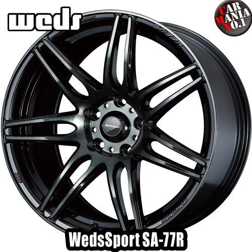18×7.5J +35 5/114.3 Weds Sport(ウェッズスポーツ) SA-77R カラー:WBC 18インチ 5穴 P.C.D114.3 ホイール新品1本