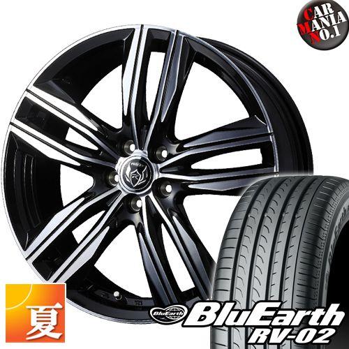 送料無料 一部除く サマータイヤ ファッション通販 ホイール 4本セット 18インチ 235-50-18 235 RV-02 ヨコハマ 50R18 PCD114.3 18×8.0 ブルーアース ライツレーDS 定番 5穴
