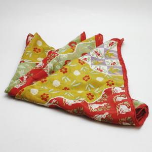 【日用品/雑貨 アクセサリー】 スカーフ 正絹 道長名物裂取 荒磯(あらいそ)製【smtb-KD】