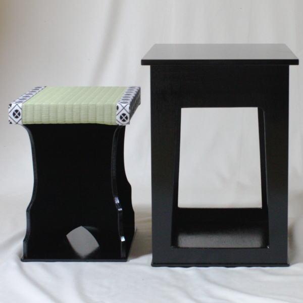 【茶器/茶道具 椅子/座椅子】 茶事座椅子 (近藤さんのちょっと椅子) 黒掻合塗  【smtb-KD】
