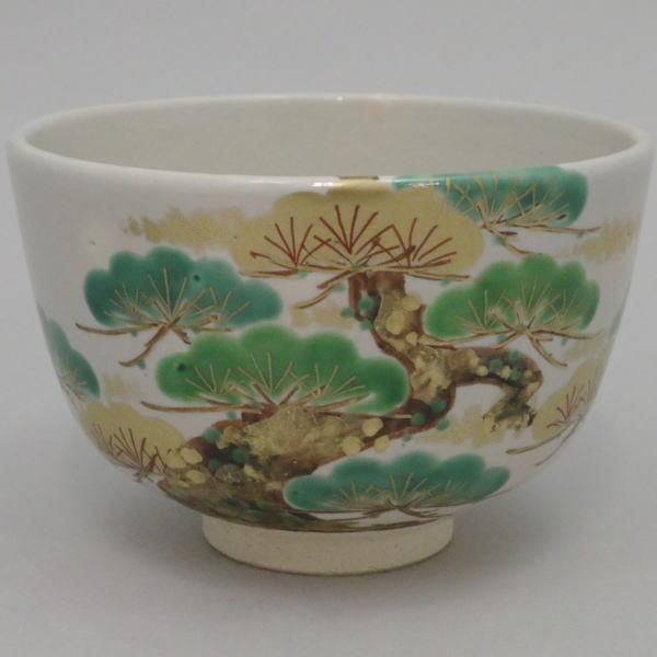 【茶器/茶道具 抹茶茶碗】 色絵茶碗 老松 松本明日香作