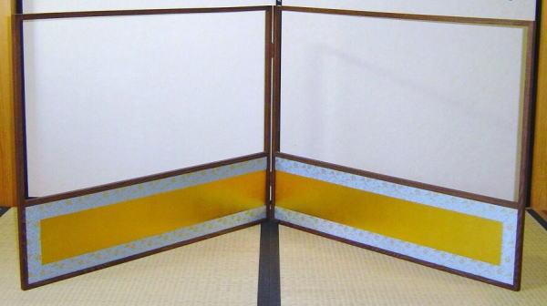 【茶器/茶道具 風炉先屏風】 風炉先 2尺4寸 竹屋町裂 上部透し 京間用