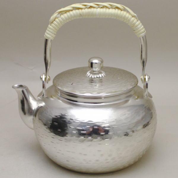 【煎茶道具 煎瓶・水注(銀瓶)】(銀瓶)湯沸し (約500ml)(大のボーフラの大きさ)【smtb-KD】