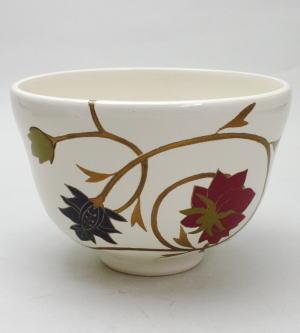 【茶器/茶道具 抹茶茶碗】 漆塗り 唐草 木製 中村宗悦作