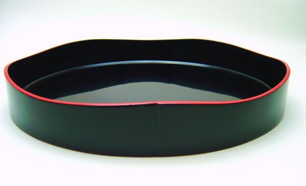 茶器 茶道具 茶箱道具山道盆 真塗り 黒 爪紅 漆木製塗りnk0PNwX8OZ