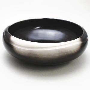 【茶器/茶道具 炭道具】 灰器 炉用 雲華焼き 黒陶まどか 寄神崇白作