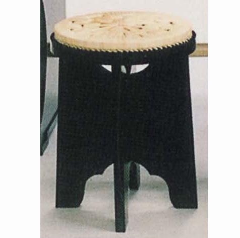 棚用【茶器/茶道具 立礼用品 円椅子/座椅子】 立礼用椅子(縁止有り) 円座付 表千家 一客 止金具付 【smtb-KD】