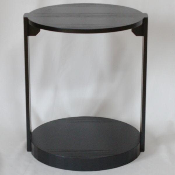【茶器/茶道具 お棚】 丸卓棚 宗旦好写 組み立て式(ビニール保護シート付) 【smtb-KD】