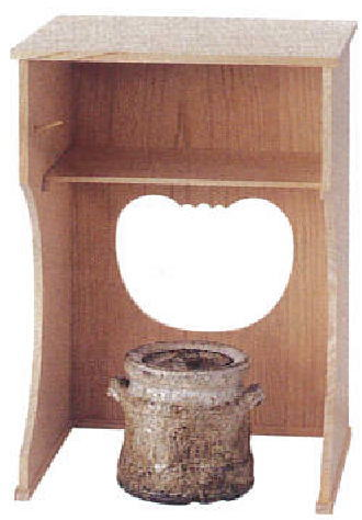 【茶器/茶道具 お棚】 抱清棚 碌々斎好写し 杉製 小林幸斎作 寄せ板の並品 炉・風炉用