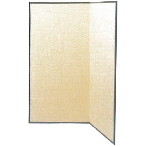 【茶道具 屏風】 水屋屏風 小 白張り 縁塗り 5尺(約高152cm)