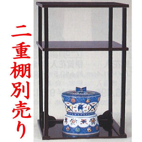 【茶器/茶道具 水指(水差し)】 色絵 宝尽くし(鼓形・臼形) 高野昭阿弥作