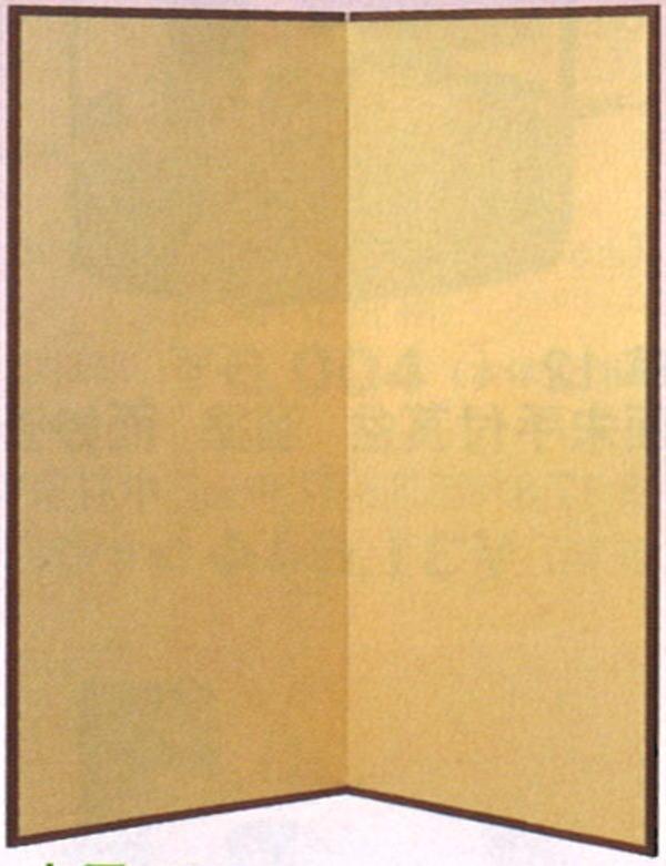 受注生産【茶器/茶道具 水屋道具】 水屋屏風 小 金梨地 紙丁番 5尺1寸5分(約高156cm)