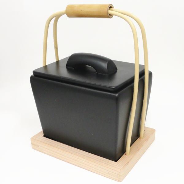 黒四方陶器製 宗伴作 火消壺(火消壷) 茶道具 【茶器 水屋道具】
