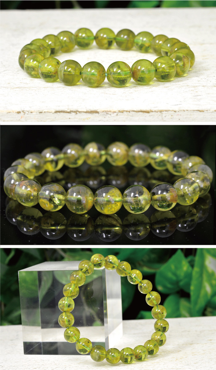 imore | Rakuten Global Market: Peridot bracelet natural stone ...
