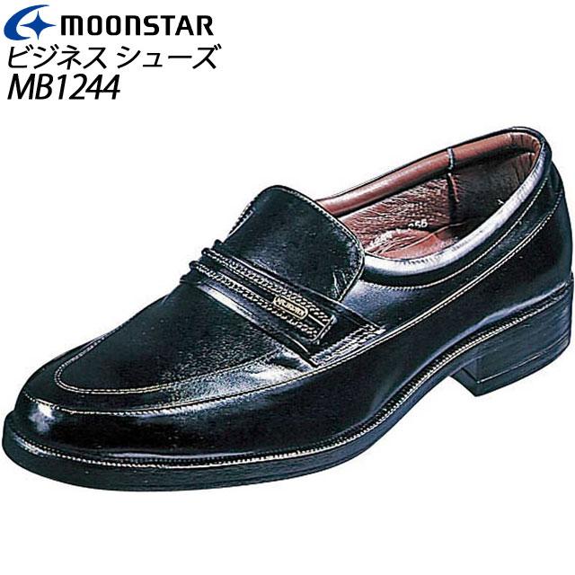 ムーンスター ビジネスシューズ メンズ MB1244 ブラック 41712441 MOONSTAR 革靴 紳士 ベーシック エレガント