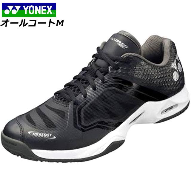 ヨネックス テニスシューズ コンフォートシューズ シューズ 運動靴 軽量 4Eワイド オールコート用 デザイン ロゴ スポーツ 運動 テニス メンズ レディース 送料無料 黒 ブラック YONEX SHTADWA