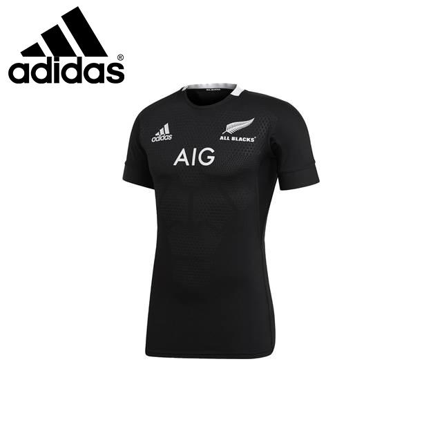 アディダス メンズ ラグビー シャツ 半袖 ゲームシャツ オールブラックス オーセンティックジャージ EKX67 adidas