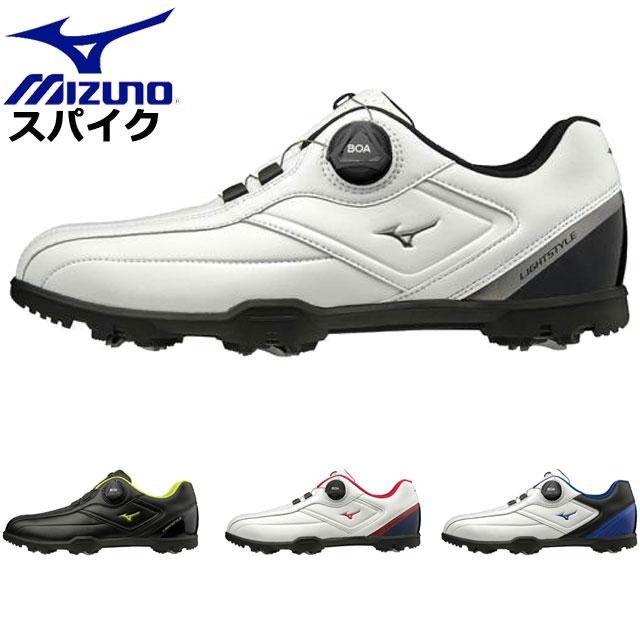 ミズノ ゴルフシューズ メンズ ライトスタイル003 ボア EEE MIZUNO 51GM1960 軽量
