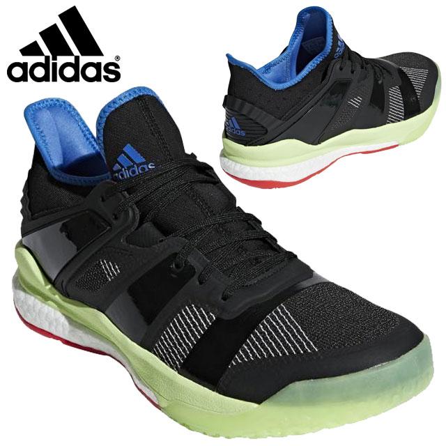 アディダス シューズ 運動靴 靴 合皮 ミッドソール グリップ力 デザイン シンプル ロゴ スポーツ 運動 トレーニング 練習 ハンドボール ドッジボール メンズ 送料無料 黒 ブラック BD7410 adidas