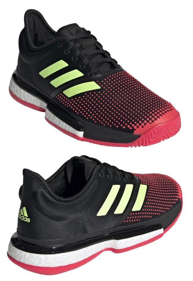アディダステニスシューズシューズ運動靴靴軽量安定性快適性グリップ力オールコートデザインロゴスポーツ運動トレーニング練習テニスレディース送料無料黒ブラックG26297adidas